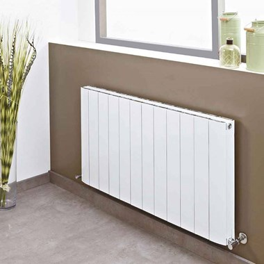 Phoenix Urban Horizontal Designer Wall Mounted Aluminium Radiator - H400mm