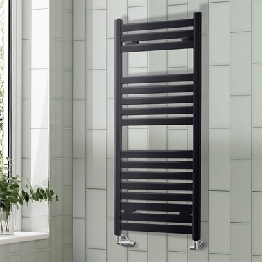 Phoenix Ascot Pre Filled Electric Designer Heated Towel Rail - H1200 x W500mm