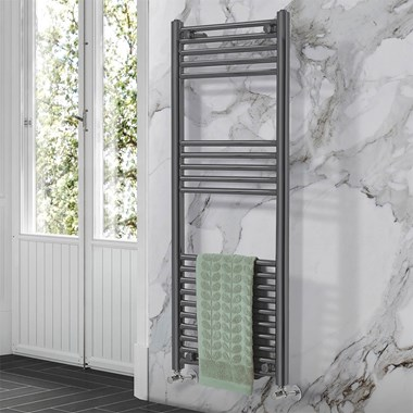 Phoenix Laura Vertical Designer Heated Towel Rail - H1200 x W500mm