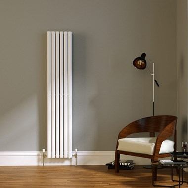 Brenton Wilis Double Panel Designer Radiator - White - 1800 x 354mm