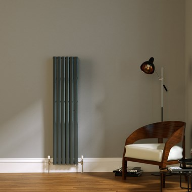 Brenton Wilis Double Panel Designer Radiator - Anthracite - 1500 x 354mm