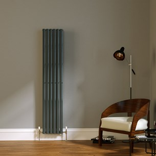 Brenton Wilis Double Panel Designer Radiator - Anthracite - 1800 x 354mm