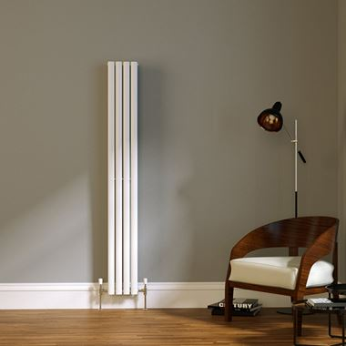 Brenton Wilis Double Panel Designer Radiator - White - 1800 x 236mm