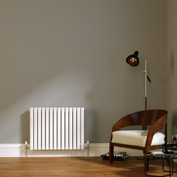 Brenton Wilis Double Panel Designer Radiator - White - 633 x 826mm