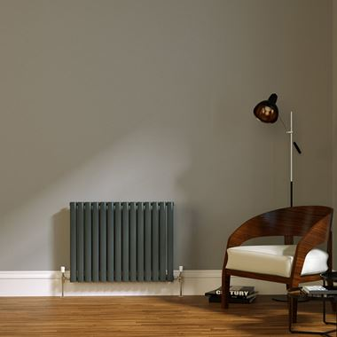 Brenton Wilis Double Panel Designer Radiator - Anthracite - 633 x 826mm