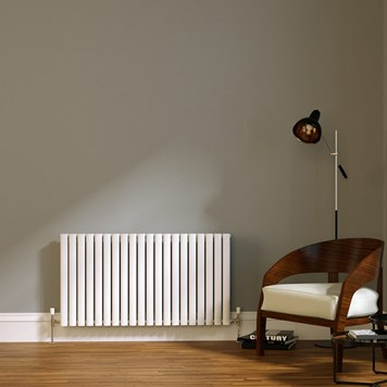 Brenton Wilis Double Panel Designer Radiator - White - 633 x 1180mm