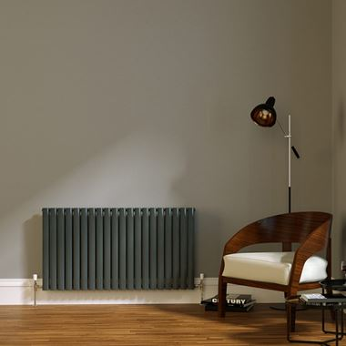 Brenton Wilis Double Panel Designer Radiator - Anthracite - 633 x 1180mm