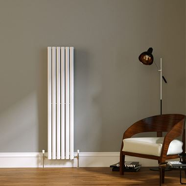Brenton Wilis Double Panel Designer Radiator - White - 1500 x 354mm