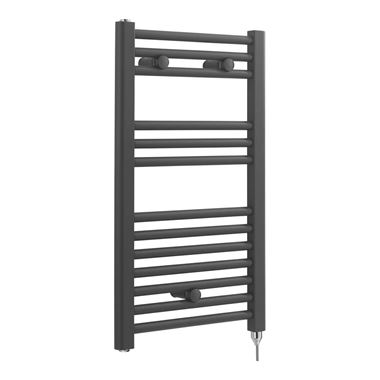 Sagittarius Severn Electric Straight Towel Radiator - Anthracite