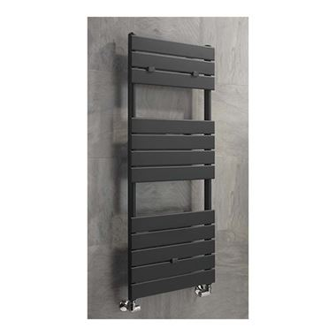Sagittarius Tamar Straight Heated Towel Radiator - Anthracite