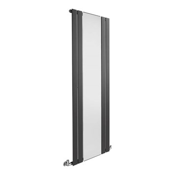 Sagittarius Tyne Vertical Flat Panel Mirrored Radiator - Anthracite - 1800 x 600mm