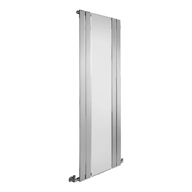 Sagittarius Tyne Vertical Flat Panel Mirrored Radiator - Chrome - 1800 x 600mm