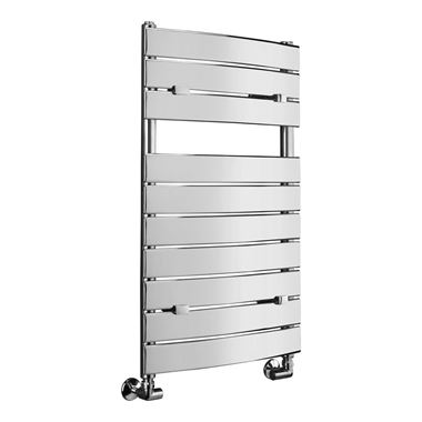 Sagittarius Wharfe Curved Heated Towel Radiator - Chrome