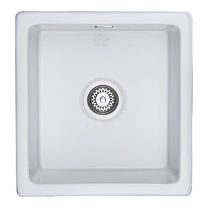 RAK 450 Gourmet Square Surface or Undermount Ceramic Kitchen Sink