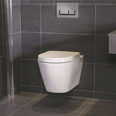 RAK Resort Wall Hung Rimless Toilet Pan & Soft Close Seat