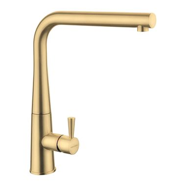 Rangemaster Conical Single Lever Mono Kitchen Mixer Tap - Brushed Brass