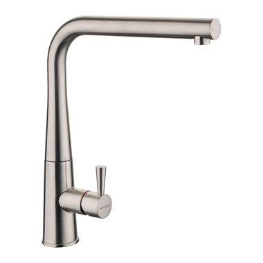 Rangemaster Conical Single Lever Mono Kitchen Mixer Tap - Brushed Nickel