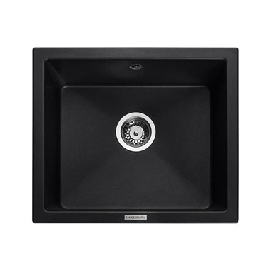 Rangemaster Paragon 1 Bowl Granite Composite Undermount Kitchen Sink & Waste Kit - 533 x 457mm