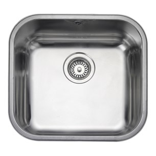 Rangemaster Atlantic Classic 450mm 1 Bowl Stainless Steel Undermount Sink & Waste Kit - Reversible