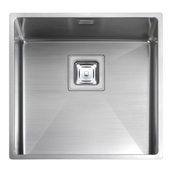 Rangemaster Atlantic Kube 400mm 1 Bowl Stainless Steel Undermount Sink & Waste Kit - Reversible