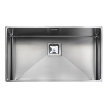 Rangemaster Atlantic Kube 700mm 1 Bowl Stainless Steel Undermount Sink & Waste Kit - Reversible