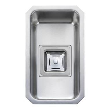Rangemaster Atlantic Quad 160mm 1 Bowl Stainless Steel Undermount Sink & Waste Kit - Reversible