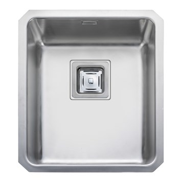 Rangemaster Atlantic Quad 340mm 1 Bowl Stainless Steel Undermount Sink & Waste Kit - Reversible