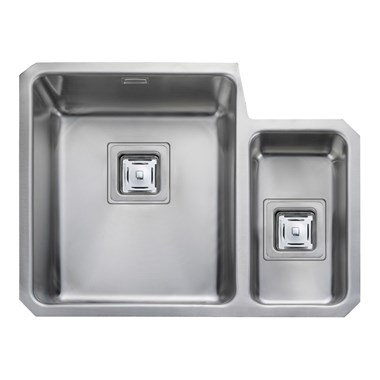 Rangemaster Atlantic Quad 1.5 Bowl Stainless Steel Undermount Sink & Waste Kit - Left Hand