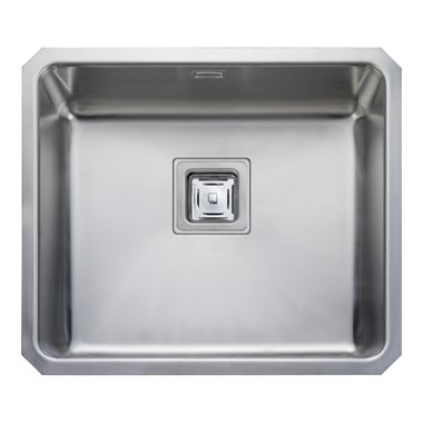 Rangemaster Atlantic Quad 480mm 1 Bowl Stainless Steel Undermount Sink & Waste Kit - Reversible