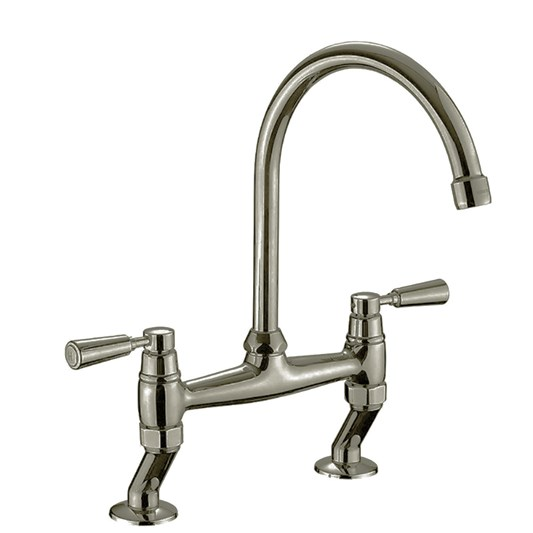 Rangemaster Traditional Belfast Bridge Kitchen Sink Mixer Tap - Brushed Chrome