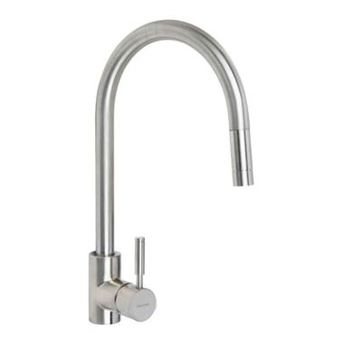Rangemaster Aquatrend Single Lever Kitchen Mixer Tap with Pull Out Spout - Brushed Chrome