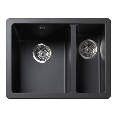 Rangemaster Paragon 1.5 Bowl Igneous Ash Sink & Waste Kit