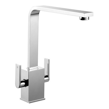 Rangemaster Quadrant Contemporary Monobloc Kitchen Sink Mixer Tap - Chrome