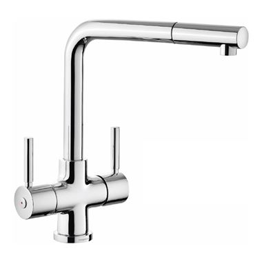 Rangemaster Aquadisc 5 Kitchen Mixer Tap with Pull Out Spout