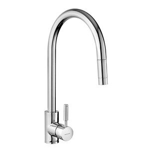 Rangemaster Aquatrend Single Lever Kitchen Mixer Tap with Pull Out Spout