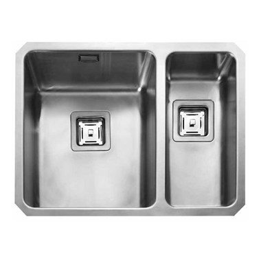 Rangemaster Atlantic Quad 1.5 Bowl Stainless Steel Undermount Sink & Waste Kit
