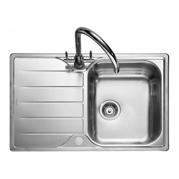 Rangemaster Michigan Compact Single Bowl Stainless Steel Kitchen Sink - Reversible