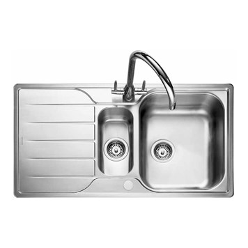Rangemaster Michigan 1.5 Bowl Stainless Steel Kitchen Sink - Reversible
