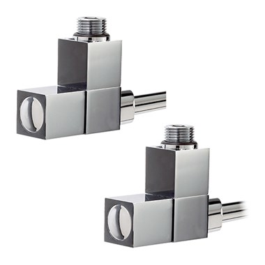 Phoenix Square Head Angled Radiator Valves