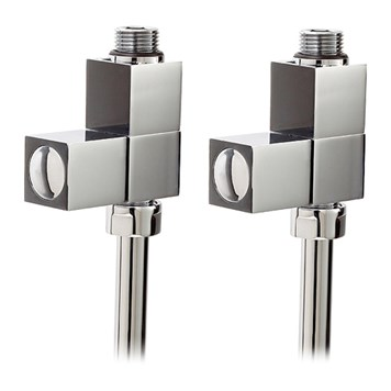 Phoenix Square Straight Radiator Valves