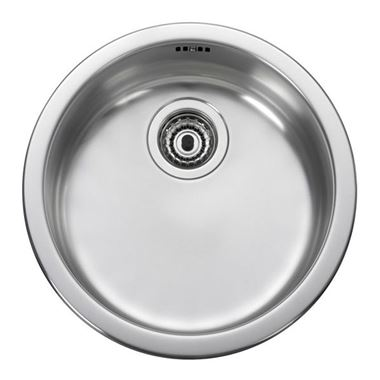 Leisure Round 1 Bowl Stainless Steel Inset Sink & Waste Kit