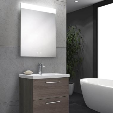 Harbour Identity LED Mirror with Demister Pad & Infrared Touch Button - 500 x 700mm