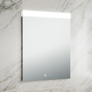 Harbour Identity LED Mirror with Demister Pad & Infrared Touch Button - 600 x 800mm