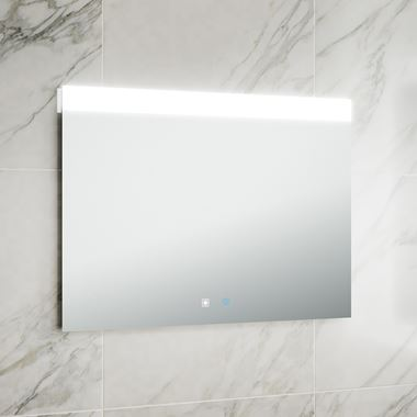Harbour Identity LED Mirror with Demister Pad & Infrared Touch Button - 800 x 600mm