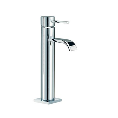 Mayfair Wave Medium Deck Mounted Mono Basin Mixer