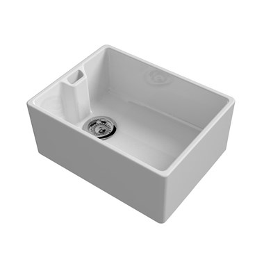 Reginox Contemporary White Ceramic Belfast Kitchen Sink