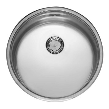 Reginox Comfort Round Bowl Stainless Steel Undermount Kitchen Sink & Waste - 440 x 440mm