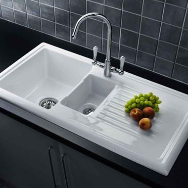 Reginox Elbe Twin Lever Kitchen Mixer Tap