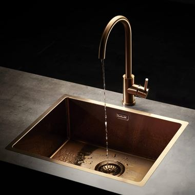 Reginox Miami Single Bowl Integrated/Undermount Stainless Steel Kitchen Sink - Copper - 540 x 440mm