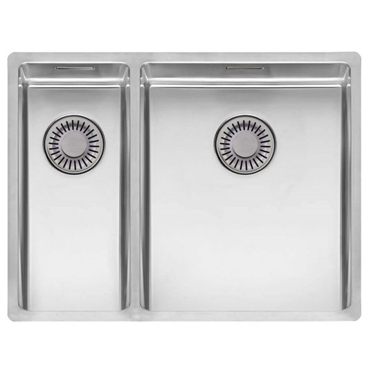 Reginox New York 1.5 Bowl Undermount or Inset Stainless Steel Kitchen Sink and Integrated Waste - 580 x 440mm